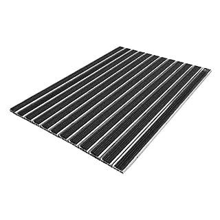 Emco Eingangsmatte Diplomat 510TB Textilbürste 10mm anthrazit Fußabstreifer Fußmatte, Größe:740 x 490 mm