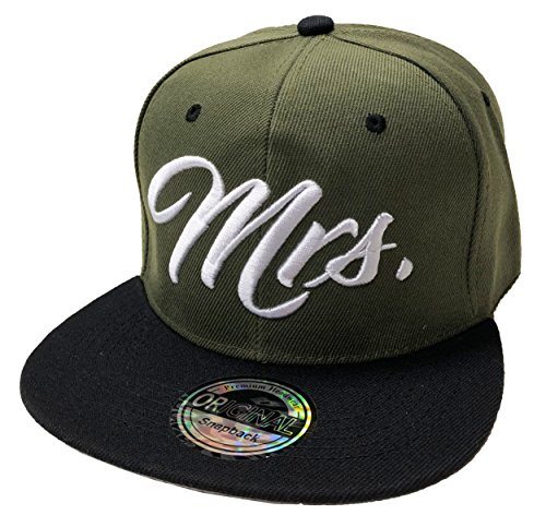 Mr. & Mrs. Snapback Set USA Cap Kappe Basecap Mütze Trucker Cappy Kult (Mrs. Oliv)
