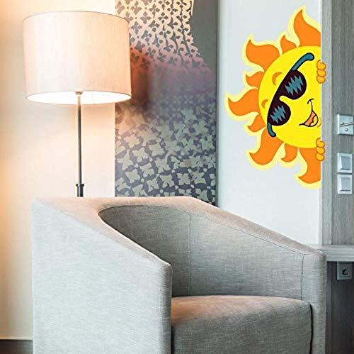 Wandaufkleber selbstklebende wandaufkleber wasserdichte wandaufkleber Cartoon Sonne mit Sonnenbrille Wandaufkleber Abnehmbare PVC Aufkleber DIY Persönlichkeit Tapete für Kinderzimmer Home St