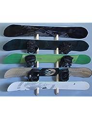 Pro tabla estante de montaje en rack–de pared para 5tablas de snowboard