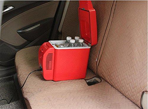 XW 12V Auto Kühlschrank 7L Kalt Und Warm Box Auto Dual Mini , Red,red