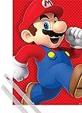 1art1® Poster + Suspension : Super Mario Poster (91x61 cm) Super Mario Bros, Run Et Kit De Fixation Transparent