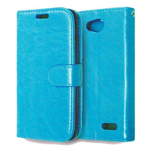 casefirst LG L90 Wallet Case, LG L90 Leather Case, Premium PU Leather Anti-Scratch Folio Stand Bumper Back Cover for LG L90 - Blue (Lg L90 Case Folio)