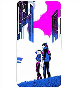 PrintDhaba LOVE COUPLE D-6702 Back Case Cover for HTC DESIRE 816 (Multi-Coloured)