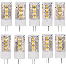 Bombillas, bombillas de inicio, G4 bombillas LED 35 SMD 2835 con nuevas bombillas de la tecnología Lámparas estupendas 4W 350LM AC 220-240V (10 paquetes) [Energía Clase A +++] Bulbos ( Color : Blanco Frío )