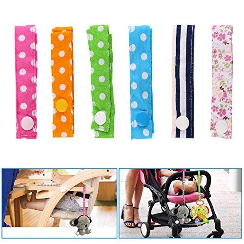 URAQT Baby Flaschen Halter Spielzeug Bügel Gurt, für Kinderwagen/Autositz/Hochstuhl - 6Pcs (Kinderwagen-halter)