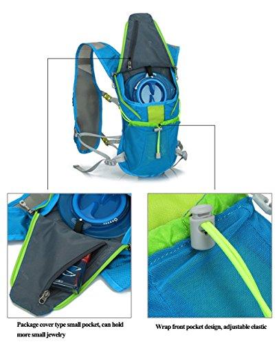 West Biking 5L Radfahren Rucksäcke Fahrrad Back Pack MTB Rennrad Bag Cycle Ausrüstung Sport Wandern Camping Taschen grün - Schwarz / Grün