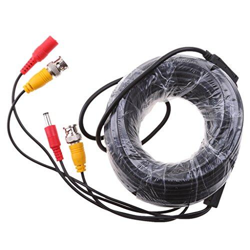 IPOTCH Video Audio BNC-Kabel Verlängerungskabel Stromkabel mit BNC-Stecker zu Dual BNA Buchse für Video Sicherheit - 15m Bnc-audio