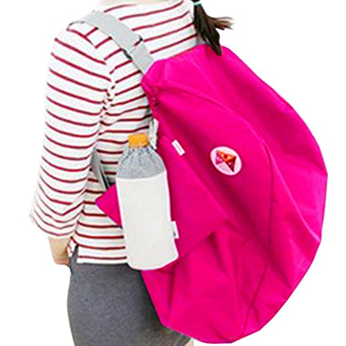 THEE Faltbare Reisetasche Reisebeutel Leichte Sport Gepäck Reisegepäck Umhängetasche Rucksack Rosa Rot