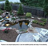 king do way Pond Liner for Garden Landscaping Pools Fountain PVC Membrane Reinforced Puncture Resistance (2.5 * 2.5M) Bild 7