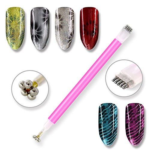 KADS Doppelkopf-Magnet-Stift für Cat Eye Gel-Nagellack, UV/-LED-Nagelkunst, Werkzeuge für Maniküre, DIY-Druck-Werkzeug