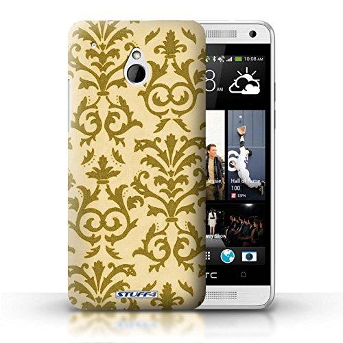 Kobalt® Imprimé Etui / Coque pour HTC One/1 Mini / Jaune conception / Série Motif de défilement Jaune