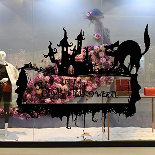 Kostüme Diy College (Xmansky Glücklich Halloween Haushalt Abnehmbar Mauer Aufkleber Wandgemälde Wandsticker)