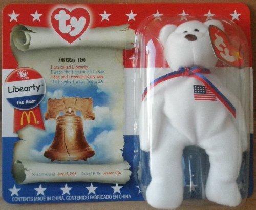 Libearty Bear (1 X TY Teenie Beanie Babies Libearty Teddy Bear Stuffed Animal Plush Toy by Unknown)