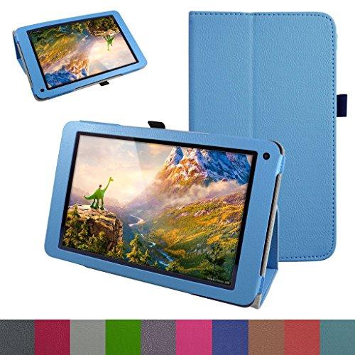 Gps-hard Case Cover (25,7cm Fusion5104GPS-Schutzhülle, Mama Mund PU Leder Folio 2-folding Stand Cover für 25,7cm Fusion5104GPS Android 5.1Lollipop Tablet PC, Hellblau)