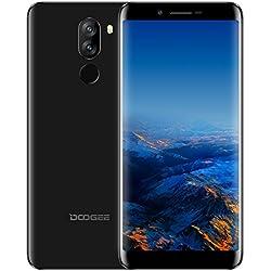 Cellulari In Offerta, DOOGEE X60L Smartphone 4G Dual SIM Android 7.0 Telefonia Mobile, 5.5 Pollici 18:9 Display, 2GB RAM 16GB ROM, Processore Quad Core, Fotocamera Posteriore da 13+8MP, Impronta Digitale - Nero