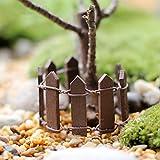 Kofun Holz Zaun Miniatur Fee Garten Landschaft Terrarium Figurine Bonsai DIY Handwerk 1 Stück Farbe Nach Dem Zufallsprinzip