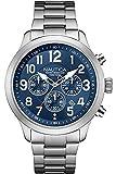 Nautica Orologio Cronografo Quarzo Uomo con Cinturino in Acciaio Inox NAI16516G
