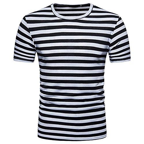 Herren T-Shirts Basic Shirt Rundhalsausschnitt Hip Hop Einfarbig Slim Fit Bluse Kurzarmshirt Casual Tees Sweatshirt Mode Blusen Streetwear Sportlich Sommerkleidung Sommer Tops (Hässliche Tee Pullover)