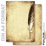 Paper-Media-Papel papel pluma en papel antiguo, 20hojas, DIN A4, 90g/m²