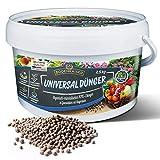 Bodenkaiser Universaldünger, organisch-mineralischer Pflanzendünger für Ihren Garten mit Langzeit-Wirkung, 2,5 kg Düngergranulat im praktischen Eimer