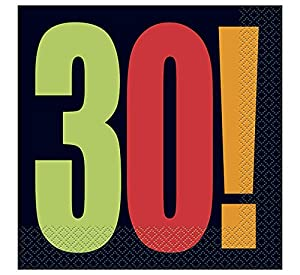 """30a Partido Ênico""""Cumpleaños Cheer"""" Papel Servilletas (paquete de 16)"""