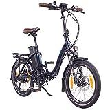 NCM Paris+ Bicicleta eléctrica Plegable, 250W, Batería 36V 19Ah • 684Wh (Azul +)
