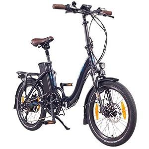 NCM Paris (+) 20 Zoll E-Bike, E-Faltrad, 36V 15Ah / 19Ah 540Wh / 684Wh Akku, 250W Das-Kit Heckmotor, Scheibenbremsen (Paris+ Blau)