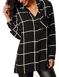 Chemises, FEITONG Femmes Blouse Manches Longues en mousseline de soie Casual Tops