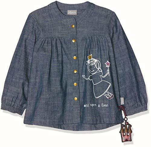 Sigikid Mädchen Bluse, Baby Jeans, Blau (Stormy Weather 214), 92