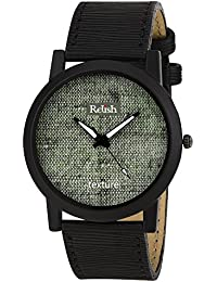 RELISH RE-S8069BB Black Slim Analog Watches For Men's And Boy's