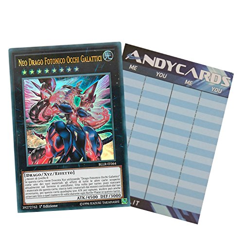 Yu-Gi-Oh! - Neo Drago Fotonico Occhi Galattici - Ultra Rara BLLR-IT064 in ITALIANO + Segnapunti Andycards