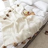 MYLUNE HOME Lusso Coperta in Maglia per guardare la TV su sulla sedia, divano e letto,Doppia Copertine Sided 130*160cm