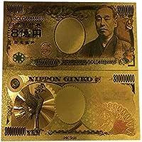 NiceButy japonesa 800 millones de yenes hoja de oro de billetes Nota colección conmemorativa conmemorativos Herramientas y decoraciones de papel moneda