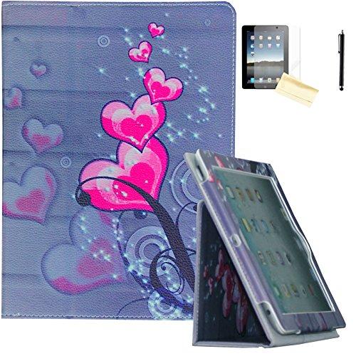 Air 2Hülle-jytrend (R) Folio Ständer magnetisch Smart Cover für Apple iPad Air (2013Version)/Air 2(2014Version) mit Auto Wake/Sleep, Rosa Herz ()