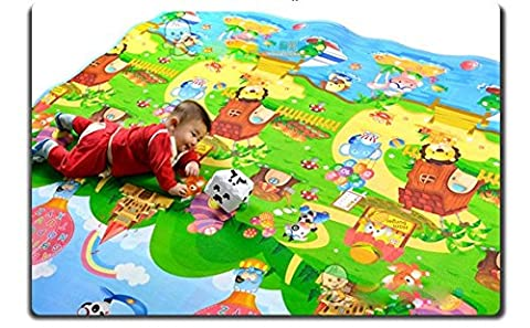 Waterproof Toddler Kids Two-Sided Crawling Mat Large 200 x 180cm Thickness Multi-Color Baby Care Crawl Pad/Game Mat Playmat Foam (UK STOCK)