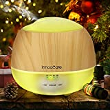 Aroma Diffuser 500ml Öl Luftbefeuchter Ultraschall Humidifier Holzmaserung LED mit