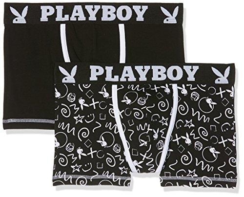 playboy-classic-cool-boxer-homme-lot-de-2-multicolore-noir-blanc-imprime-craie-medium-taille-fabrica