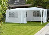 Tendone per feste 3x6 m Gazebo party per sagre, mercati PE 120 g/m² bianco