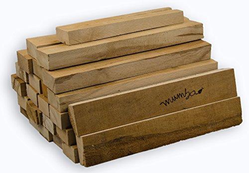 mumba® 24 Kilo schönes Buche - Anfeuerholz trocken, sauber, sofort verwendbar, kammergetrocknetes Buchenholz, Brennholz zum Anfeuern