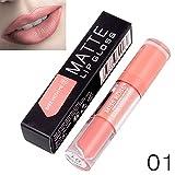 Yazidan Miss Rose Flüssigkeit Lippenstift Feuchtigkeitscreme SAMT Lippenstift Kosmetik Schönheit Bilden Wasserdicht Vampir-Stil Glanz Glänzend Mode Lange andauernd Feuchtigkeitsspendend (#1)