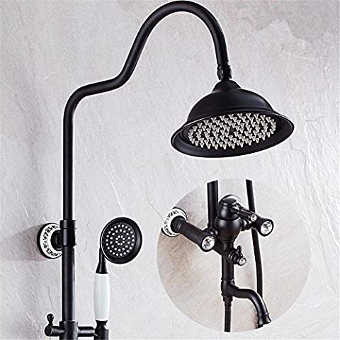Bathroom Luxury Black Golden Shower Set Shower Antique Gold Shower