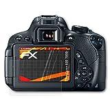 atFoliX Folie für Canon EOS 700D / Rebel T5i Displayschutzfolie - 3 x FX-Antireflex-HD hochauflösende entspiegelnde Schutzfolie