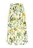 Hallhuber Midirock mit Lemon-Print A-Linie Multicolor, 34