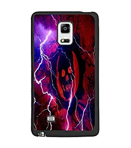 PrintDhaba Skull D-4379 Back Case Cover for SAMSUNG GALAXY NOTE EDGE (Multi-Coloured)