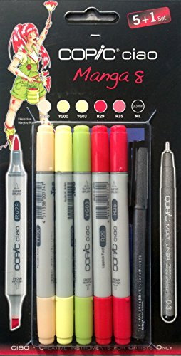 COPIC Hobbymarker ciao 5+1 Set, Manga 8