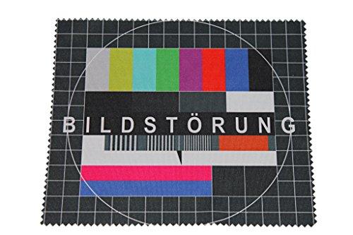 """BELLANET Brillenputztuch aus High-Quality Mikrofaser mit Bestseller Motiv """"Bildstörung"""""""