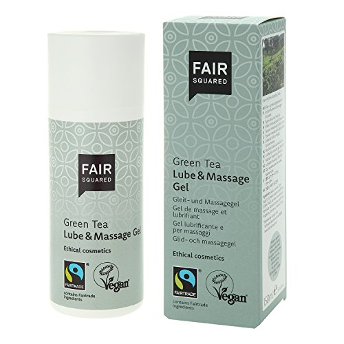 FAIR SQUARED Lube & Massage Gel, Gleit- und Massagegel Green Tea, Grüner Tee, vegane Naturkosmetik, 150 ml
