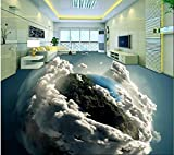 Yosot 3D Bodenbelag Benutzerdefinierte Foto 3D Erde Wohnzimmer Badezimmer Bodenbelag Wandbild Tapete-140cmx100cm