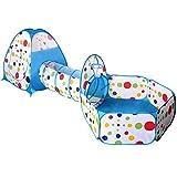HJGHFH Indoor/Outdoor Play Tunnel e Play Tent 3 in 1 Playground Regali per Bambini Neonati Ragazzi Giocattoli per Bambini(Contiene 100 Ocean Ball),*Blue